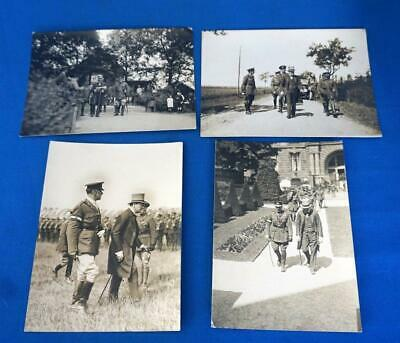 Four Photographs of Winston Churchill With British Generals and Troops