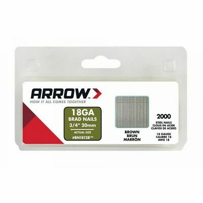 Arrow Brad Nails Brown Head Pack of 2000 &Pack of1000 15mm,20mm,25mm,32mm & 38mm