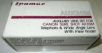 Lenmar Auxiliary Lens Set for CANON SURE SHOT AF35M Telephoto & Wide Angle Lens