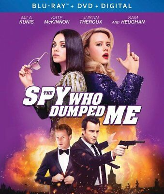 The Spy Who Dumped Me (Blu Ray + DVD) Mila Kunis Kate McKinnon Slipcover