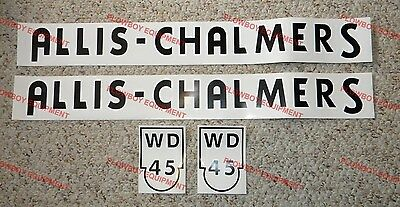 Ac45 Allis Chalmers Wd 45 Wd45 Tractor Hood Decal Ac