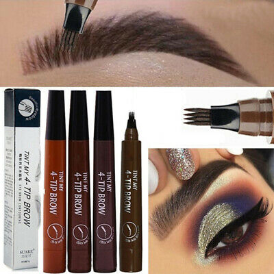 Hot Eyebrow Pencil Waterproof Microblading Fork Tip Tattoo Long Lasting Makeup