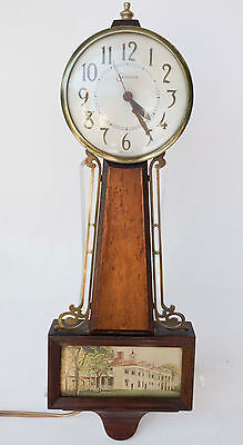 Vintage SESSIONS Clock Co Electric Banjo Wall Clock 2W Collectible Working Nice