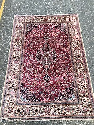 Antique 19th Cent Islamic Persian %100 Silk Kashan Rug Or Carpet Museum Quality