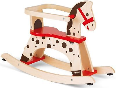 Janod French Rocking Horse Child/Kids Wooden Activity Toy