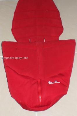 New Silver Cross Surf full length fleece footmuff & liner Chilli Red - very warm