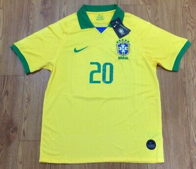 0eb93e1e9 BRAZIL NATIONAL FOOTBALL Team Roberto Carlos Nike Jersey Sz L ...