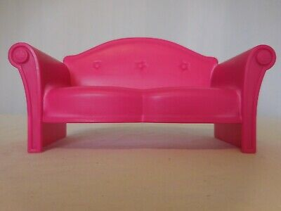 Barbie Glam Vacation Beach Dollhouse Replacement Hot Pink Sofa 2009 Mattel