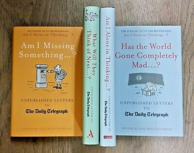 4 Unpublished Letters To The Daily Telegraph Books ** £3.25 Uk Post ** Hardback