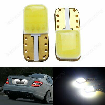 2x T10 194 501 W5W High Power COB LED Bulb Number Plate Side Light White 6000K