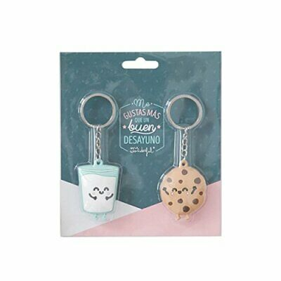 Mr. Wonderful Set de 2 llaveros Mr.Wonderful Galleta y Vaso parejasque Son ¡la