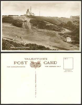 CROMER Happy Valley, Lighthouse Old Real Photo Postcard