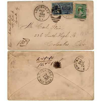 Feb 18, 1890 Scott E1 Special Delivery Cancelled Cover, Louisville, KY
