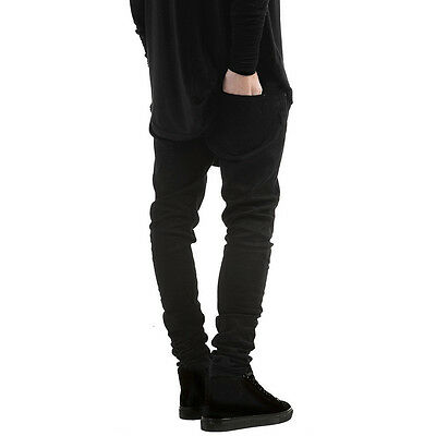 Men's Ripped Skinny Jeans Destroyed Frayed Slim Fit Denim Pants Trousers Casual