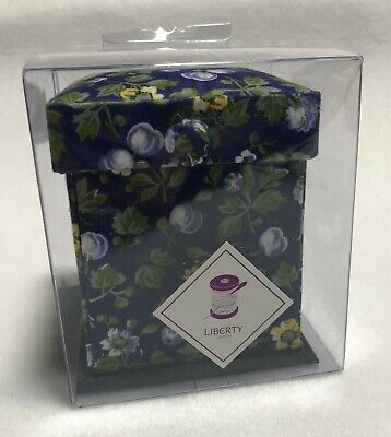 Liberty of London Victorian Sewing Box - Dark Blue Floral