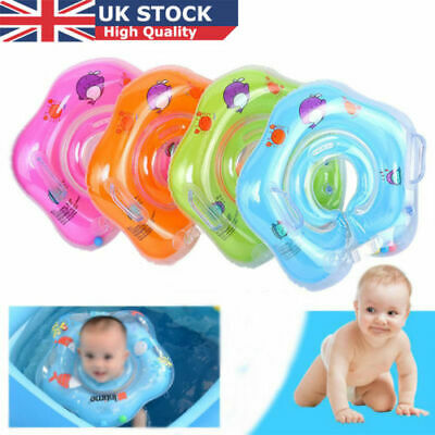 UK Newborn Infant Baby Inflatable Swimming Neck Float Ring Bath Circle Safety