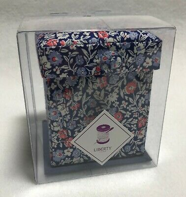 Liberty of London Victorian Sewing Box - Blue & Pink Floral