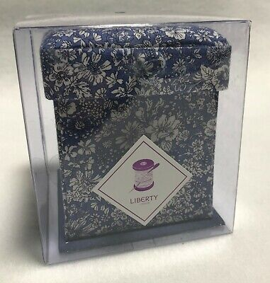 Liberty of London Victorian Sewing Box - Blue Floral