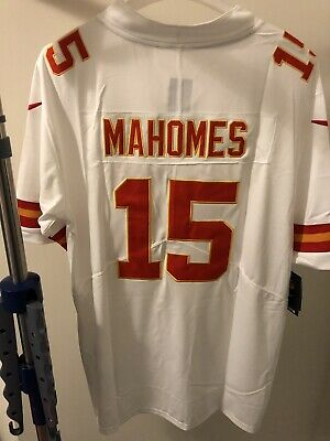 c729bc01f4f PATRICK MAHOMES JERSEY XL Black SEWN Kansas City Chiefs MEN NFL #15 ...