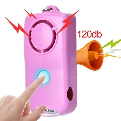 Personal Alarm Emergency Safety Self Defense Anti-Attack With Light Keychain