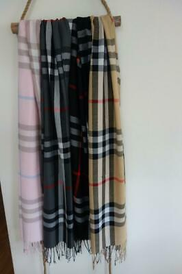 Unisex Men's/Women's Tartan Plaid Pashmina Scarf 200x70cm