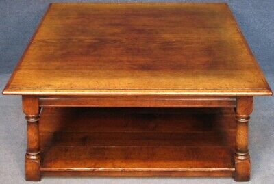 Titchmarsh And Goodwin Large Solid Oak Coffee Table