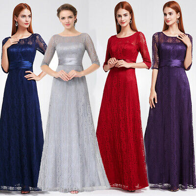51239ed9271e Ever-pretty Long 3/4 Sleeve Evening Party Dresses Formal Ball Prom Gowns  08878