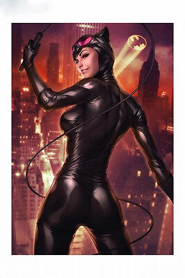 SIGNED Stanley Artgerm Lau 2016 SDCC EXC Sideshow Variant Art Print CATWOMAN