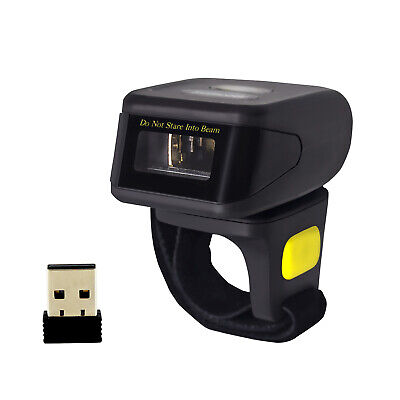 Symcode 1D Wireless Bluetooth Ring Barcode Scanner Reader fr Mac OS Android+iOS