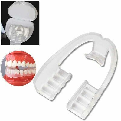 Silicone Dental Mouth Guard Bruxism Sleep Aid Night Teeth Tooth Grinding w/ Case