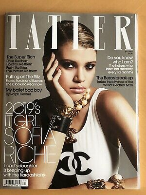 Tatler UK Magazine April 2019 Sofia Richie, Chanel, The Super Rich *FREE P&P*