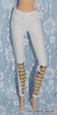 Barbie Doll Puma Made to Move White Gold Fashion Pants Pin Hole Flaws - NO DOLL