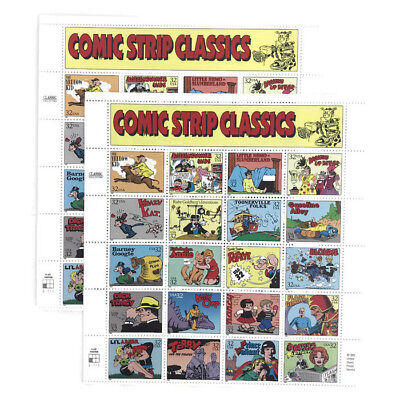 Comic Strip Classics Collection Two Sheets of Twenty 32¢ Stamps US Postage
