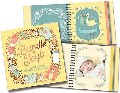 Studio Oh BABY MEMORY JOURNAL BUNDLE OF JOY Baby Record Book Gift BN
