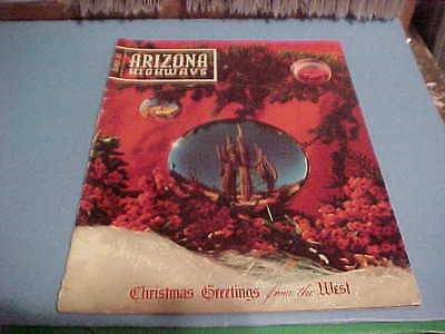 December 1955 Arizona Highways Magazine Christmas Greetings From The West