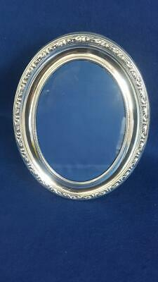 Vintage Large Oval Classically Beautiful Victorian Style Silver Photo Frame