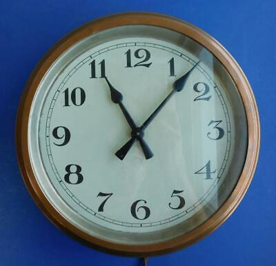 Extremely Early Electronic Bankers or Railway Wall Clock Copper Bezel 1900s