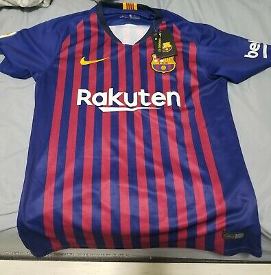 1db09976310 Nike FC Barcelona 2017 - 2018 Home Lionel Messi #10 Soccer Jersey Size M