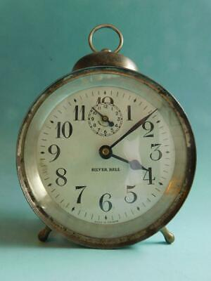Silver Bell early Alarm Clock Canada 1900s