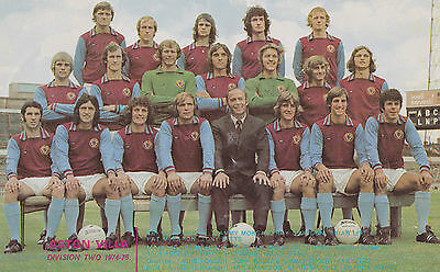 Aston Villa Football Team Photo>1974-75 Season
