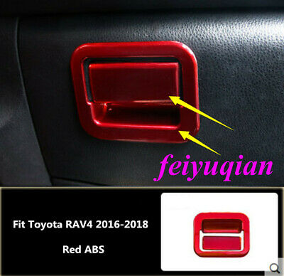 Red ABS Inner Control Storage Box Frame Cover Fit For Toyota RAV4 2016 2017 2018