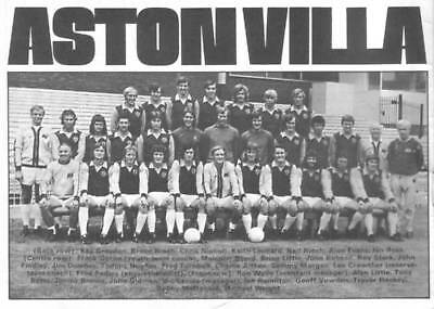 Aston Villa Football Team Photo>1973-74 Season
