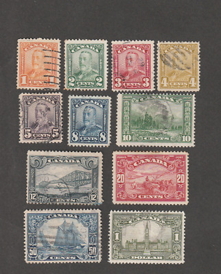 Canada 1928 King George And Sites Used/Mint Complete Set Sc # 149/59