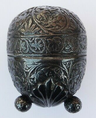 Extremely Fine Antique Kashmiri Islamic Solid Silver Pepperette c1880