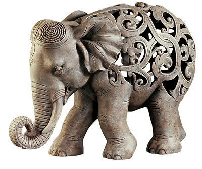 Indian Elephant Jali Sculpture