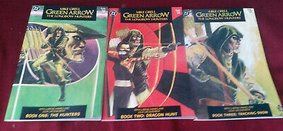 D.C. Comics Lot of the Green Arrow The Longbow Hunters 3 Issues Complete