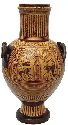 Ancient Greek Geometric Amphora from Boeotia Museum Replica Reproduction