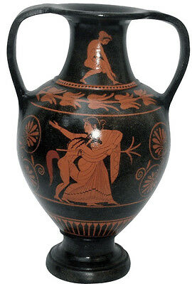 Ancient Greek Nicosthenic Amphora Vase Museum Replica Reproduction