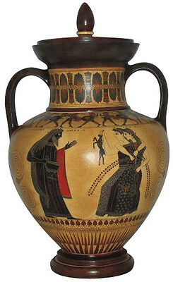 Neck Amphora with top Ancient Greek Museum Replica Reproduction