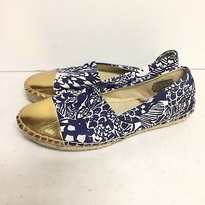 2ae11c15c3469c Lilly Pulitzer for Target Upstream Espadrilles Flats Shoes Blue Size 7.5